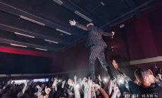 Frank Carter standing on the audience